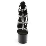 Schwarz 18 cm ADORE-798 Damenschuhe mit hohem Absatz