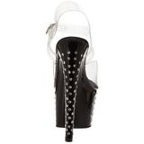 Schwarz 18 cm Pleaser STARDUST-708 Plateau High Heels