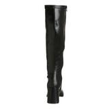 Schwarz 7,5 cm GOGO-300 hippie stiefel mit blockabsatz - disco stiefel 70er