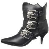 Schwarz 7 cm DEMONIA FURY-06 Damen Gothic Stiefeletten
