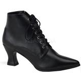 Schwarz 7 cm VICTORIAN-35 Damen Stiefeletten mit Schnürsenkel