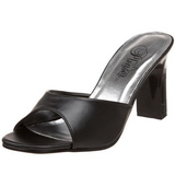 Schwarz 8,5 cm Fabulicious ROMANCE-301-2 Damen Mules Schuhe