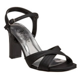Schwarz 8,5 cm ROMANCE-313 High Heel Sandaletten Damen