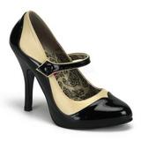 Schwarz Beige 11,5 cm rockabilly TEMPT-07 Damenschuhe mit hohem Absatz