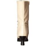 Schwarz Beige 7 cm VICTORIAN-123 Damen Stiefeletten