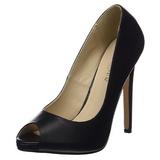 Schwarz Kunstleder 13 cm SEXY-42 Klassische Pumps Schuhe Damen