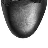 Schwarz Kunstleder 15,5 cm DELIGHT-1020 Plateau Stiefeletten