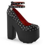 Schwarz Kunstleder 16 cm CRAMPS-06 Gothic Pumps Schuhe
