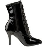 Schwarz Lack 10,5 cm VANITY-1020 Damen Stiefeletten für Männer