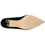 Schwarz Lack 10 cm CLASSIQUE-20 Damen Pumps Stiletto Absatz