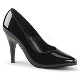 Schwarz Lack 10 cm DREAM-420 Damen Pumps Schuhe Flach
