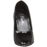 Schwarz Lack 10 cm DREAM-420 High Heels Pumps für Männer