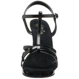 Schwarz Lack 12 cm FLAIR-420 High Heel Sandaletten Damen
