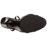 Schwarz Lack 12 cm FLAIR-436 High Heels Damenschuhe für Herren