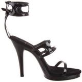 Schwarz Lack 12 cm FLAIR-458 High Heel Sandaletten Damen