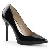 Schwarz Lack 13 cm AMUSE-20 Damen Pumps Stiletto Absatz