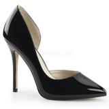 Schwarz Lack 13 cm AMUSE-22 Klassische Pumps Schuhe Damen