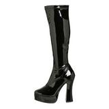 Schwarz Lack 13 cm ELECTRA-2000Z High Heels Damenstiefel für Männer