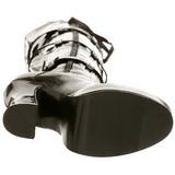 Schwarz Lack 13 cm ELECTRA-3028 Overknee Stiefel für Männer