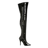 Schwarz Lack 13 cm SEDUCE-3000 overknee high heels stiefel