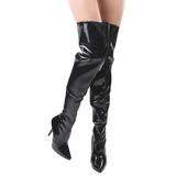 Schwarz Lack 13 cm SEDUCE-3010 overknee high heels stiefel