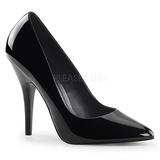Schwarz Lack 13 cm SEDUCE-420 High Heels Pumps für Männer