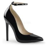Schwarz Lack 13 cm SEXY-23 Klassische Pumps Schuhe Damen