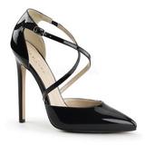Schwarz Lack 13 cm SEXY-26 Klassische Pumps Schuhe Damen