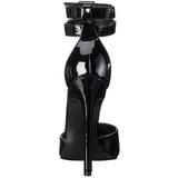 Schwarz Lack 13 cm SEXY-36 Damen Pumps Stiletto Absatz