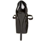 Schwarz Lack 14,5 cm Burlesque TEEZE-12 Damenschuhe mit hohem Absatz