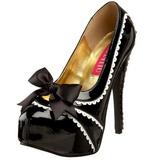 Schwarz Lack 14,5 cm Burlesque TEEZE-14 Damenschuhe mit hohem Absatz
