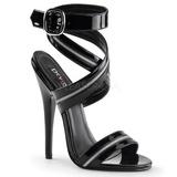 Schwarz Lack 15 cm DOMINA-119 High Heels Sandaletten