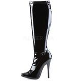 Schwarz Lack 15 cm DOMINA-2000 High Heels Damen Stiefel