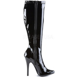 Schwarz Lack 15 cm DOMINA-2000 High Heels Damenstiefel für Männer