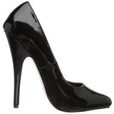 Schwarz Lack 15 cm DOMINA-420 sehr hohe stilettos pumps spitz