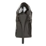 Schwarz Lack 15 cm DOMINA-460 Pumps Damen Schuhe Flach