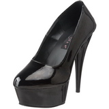 Schwarz Lack 15 cm Pleaser DELIGHT-685 Plateau Pumps