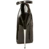 Schwarz Lack 15 cm SCREAM-12 Damen Pumps Stiletto Absatz