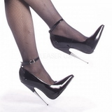 Schwarz Lack 15 cm SCREAM-12 Fetish Damen Pumps Schuhe