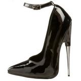 Schwarz Lack 15 cm SCREAM-12 Fetish Damen Pumps Schuhe