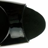Schwarz Lack 23 cm Pleaser INFINITY-912SP Plateau High Heels