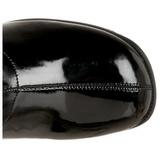 Schwarz Lack 5 cm RETRO-300 hippie stiefel - lackstiefel 70er