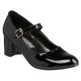 Schwarz Lack 5 cm SCHOOLGIRL-50 Klassische Pumps Schuhe Damen