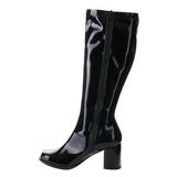 Schwarz Lack 7,5 cm Funtasma GOGO-303 Damen Stiefel