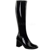 Schwarz Lack 8,5 cm Funtasma GOGO-300 Damen Stiefel