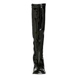 Schwarz Lack 8,5 cm GOGO-300 High Heels Damenstiefel für Männer