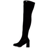 Schwarz Lack 8 cm GOGO-3000 Overknee Stiefel für Männer