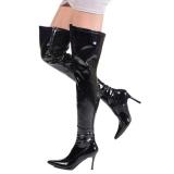 Schwarz Lack 9,5 cm LUST-3000 overknee high heels stiefel