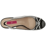Schwarz Lackleder 11,5 cm PINUP-10 grosse grössen sandaletten damen