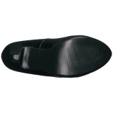 Schwarz Lackleder 13,5 cm CHLOE-02 grosse grössen pumps schuhe